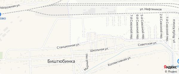 Сквозной 14-й переулок на карте Астрахани с номерами домов