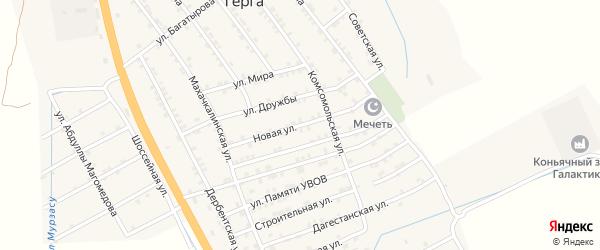 Новая улица на карте села Герги с номерами домов
