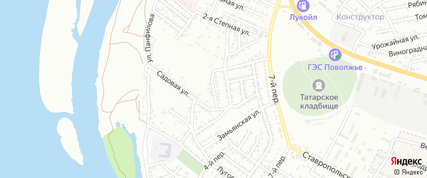 Луговая 3-я улица на карте Астрахани с номерами домов