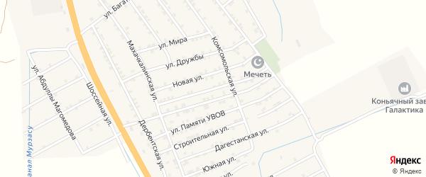 Молодежная улица на карте села Герги с номерами домов