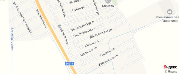 Дагестанская улица на карте села Герги с номерами домов