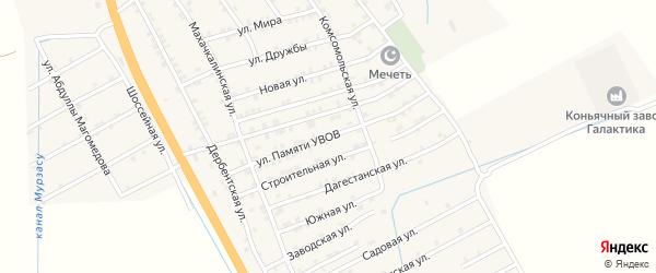 Улица Памяти УВОВ на карте села Герги с номерами домов