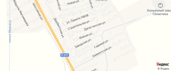Южная улица на карте села Герги с номерами домов