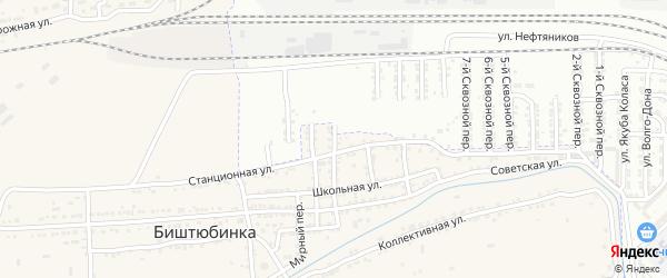 Сквозной 13-й переулок на карте Астрахани с номерами домов