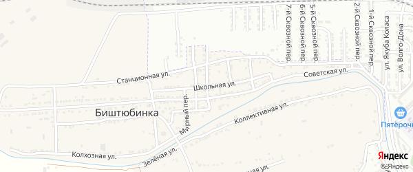 Тамбовский переулок на карте села Биштюбинка с номерами домов