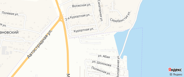 Рассветская улица на карте Астрахани с номерами домов