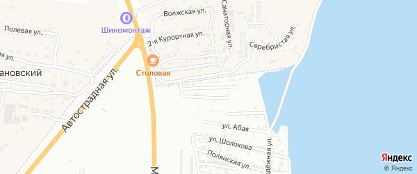 Рассветская 1-я улица на карте Астрахани с номерами домов