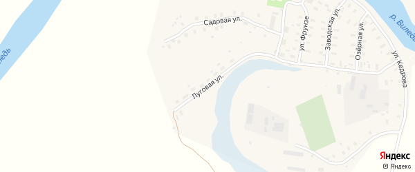 Луговая улица на карте Ильинско-Подомского села с номерами домов