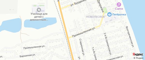 Мостовая улица на карте Астрахани с номерами домов