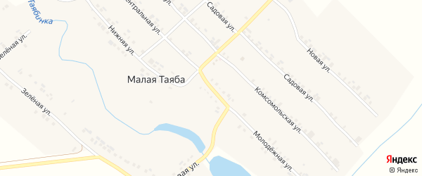 Молодежная улица на карте деревни Малой Таяба с номерами домов