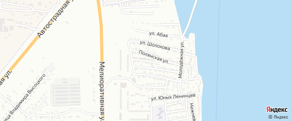 Кузнечная улица на карте Астрахани с номерами домов