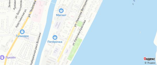 Улица Капитана Краснова на карте Астрахани с номерами домов