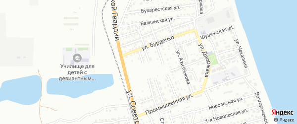 Железноводская улица на карте Астрахани с номерами домов