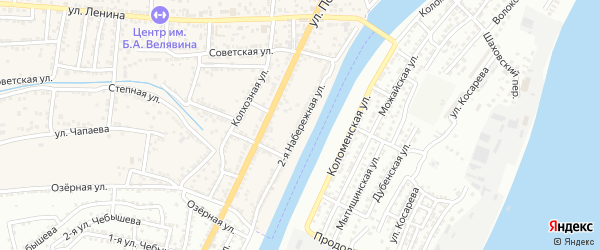 Набережная 2-я улица на карте села Старокучергановка с номерами домов