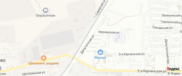 Депутатская улица на карте Астрахани с номерами домов