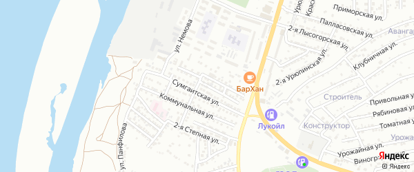 Каспийская улица на карте Астрахани с номерами домов
