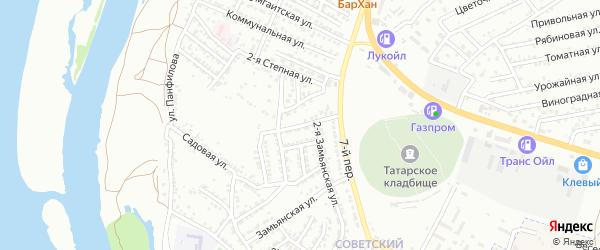Замьянская 5-я улица на карте Астрахани с номерами домов