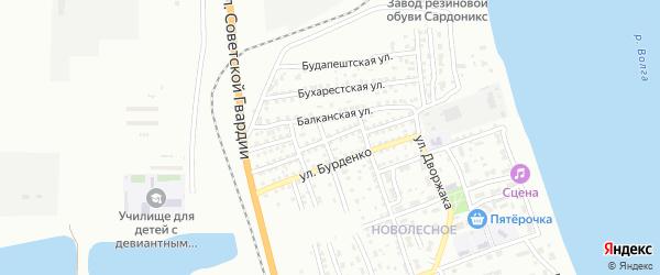 Улица Кецховели на карте Астрахани с номерами домов