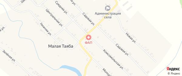 Комсомольская улица на карте деревни Малой Таяба с номерами домов