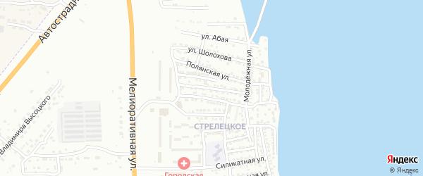 Стахановская улица на карте Астрахани с номерами домов