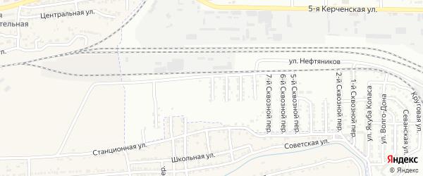 Сквозной 11-й переулок на карте Астрахани с номерами домов