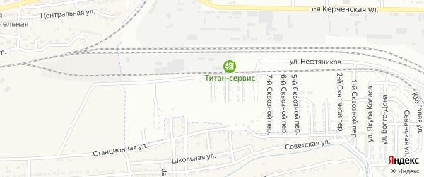 Березовый 11-й переулок на карте Астрахани с номерами домов