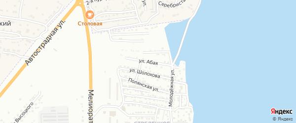 Абая улица на карте Астрахани с номерами домов