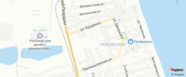 Улица Панферова на карте Астрахани с номерами домов