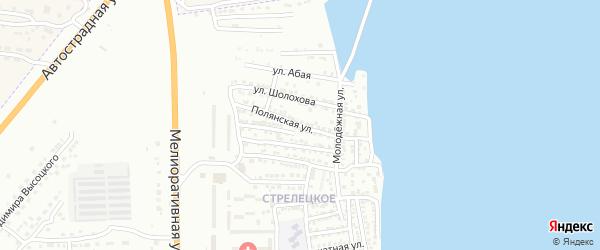 Полянская улица на карте Астрахани с номерами домов