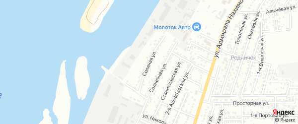 Соляная улица на карте Астрахани с номерами домов