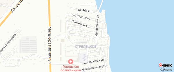 Улица Героев 11 Армии на карте Астрахани с номерами домов