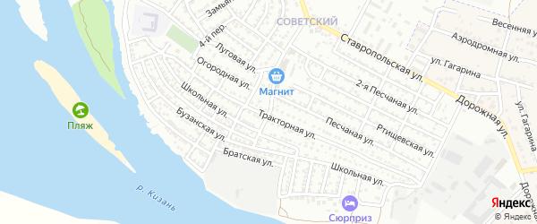 Промышленный 9-й переулок на карте Астрахани с номерами домов