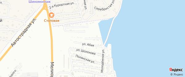 Совхозная улица на карте Астрахани с номерами домов
