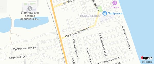 Промышленная улица на карте Астрахани с номерами домов