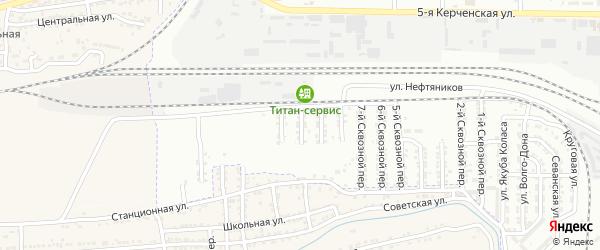 Сквозной 19-й переулок на карте Астрахани с номерами домов
