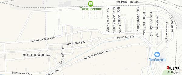 Чусовой переулок на карте села Биштюбинка с номерами домов
