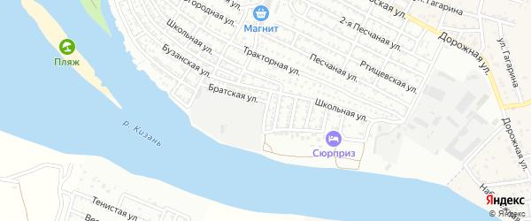 Пристанский переулок на карте Астрахани с номерами домов