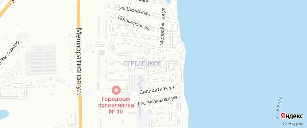 Улица Юных Ленинцев на карте Астрахани с номерами домов