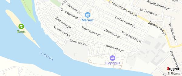 Школьная улица на карте Астрахани с номерами домов