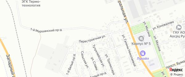 Перестроечная улица на карте Астрахани с номерами домов