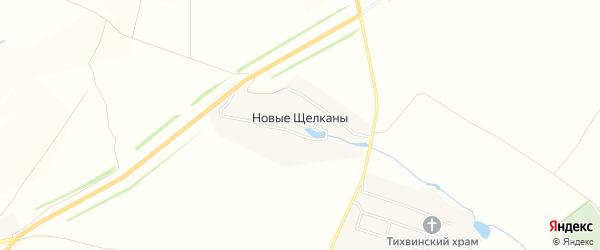 Карта деревни Новые Щелканы в Чувашии с улицами и номерами домов