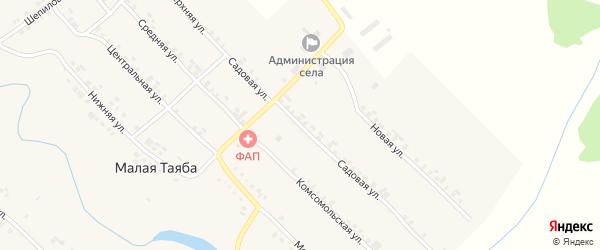 Садовая улица на карте деревни Малой Таяба с номерами домов