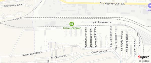 Сквозной 9-й переулок на карте Астрахани с номерами домов