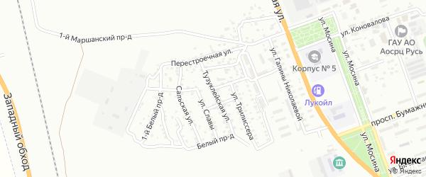 Воркутинская улица на карте Астрахани с номерами домов