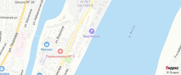 Улица Адмирала Угрюмова на карте Астрахани с номерами домов