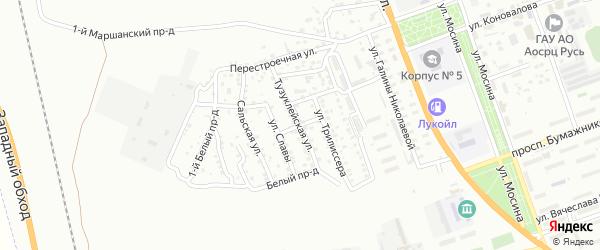 Стрелецкая улица на карте Астрахани с номерами домов