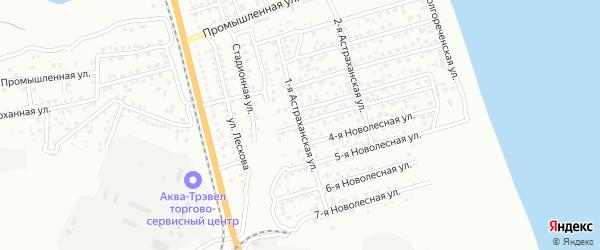 Волгореченская 1-я улица на карте Астрахани с номерами домов