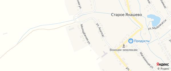Молодежная улица на карте деревни Старое Янашево с номерами домов