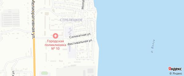 Нижневолжская улица на карте Астрахани с номерами домов