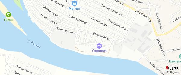 Улица Гужвина на карте Астрахани с номерами домов